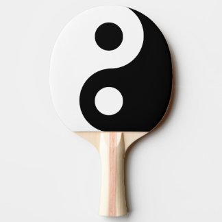 Customizable Black Yin Yang Symbol Ping Pong Paddle