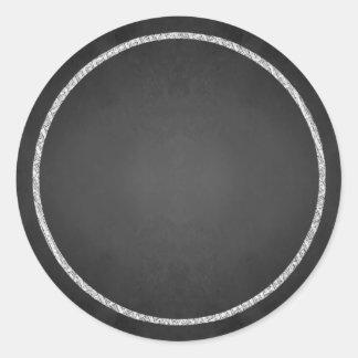 Customizable Blank Faux Chalkboard Stickers