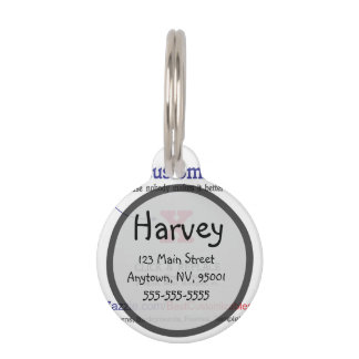 Customizable Blank Gift Template Pet Name Tag