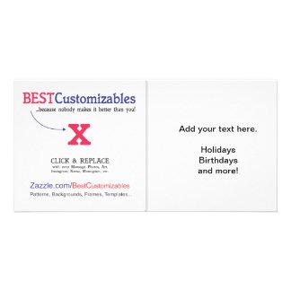 Customizable Blank Gift Template Photo Card Template