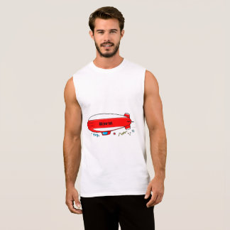 Customizable Blimp: Add Your Own Message Sleeveless Shirt