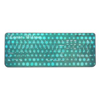customizable blue aqua glow dots wireless keyboard
