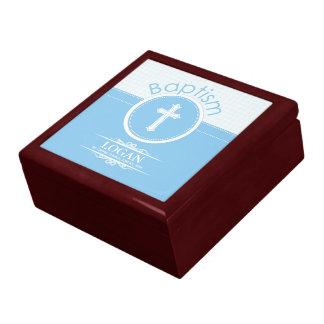 Customizable, Blue Boy Child of God Baptism Gift Box