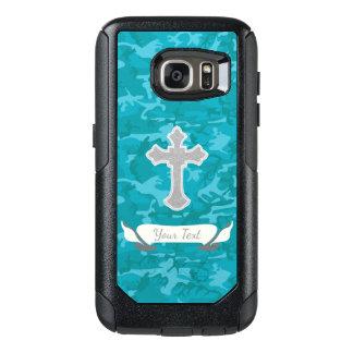 Customizable - Blue Camo with Cross OtterBox Samsung Galaxy S7 Case