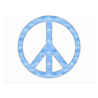 Customizable Blue Peace Sign Postcard