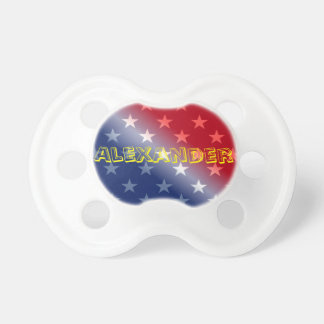 Customizable Blue Red and White Pacifier