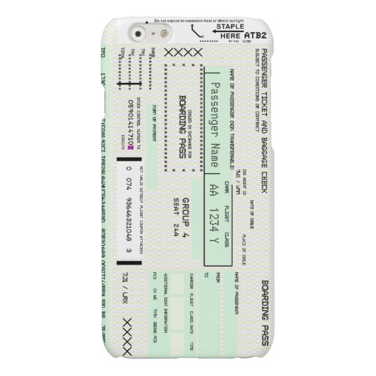 Customizable Boarding Pass