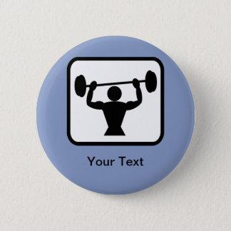 Customizable Bodybuilder / Weightlifter Logo 2 Inch Round Button