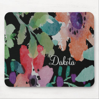 Customizable Bold and Beautiful Watercolor Flowers Mouse Pad