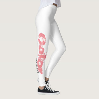 Customizable Bold Color Guard Text Leggings