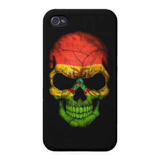 Customizable Bolivian Flag Skull iPhone 4/4S Covers