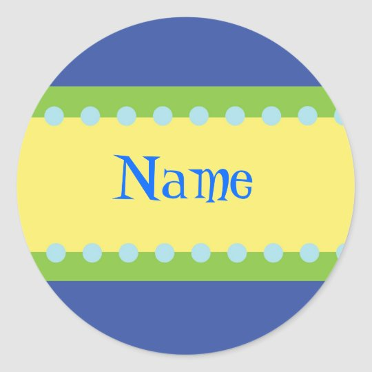 Customizable Boys Name Stickers