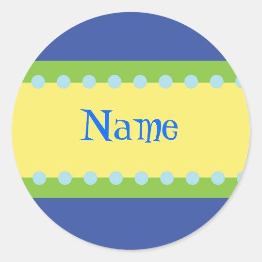 Customizable Boys Name Stickers