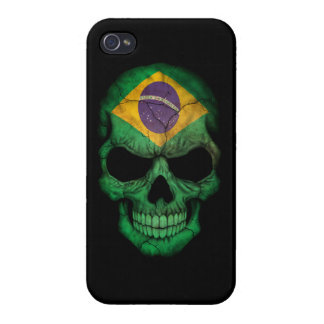 Customizable Brazilian Flag Skull iPhone 4/4S Cover