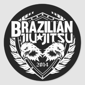 Customizable Brazilian Jiu-Jitsu Classic Round Sticker
