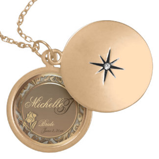 Customizable Brides Gold Keepsake Locket