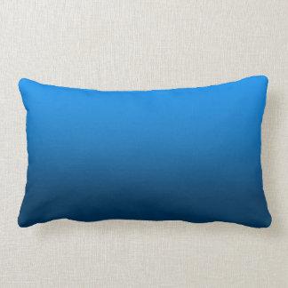 Customizable Bright Blue Gradient Pillow