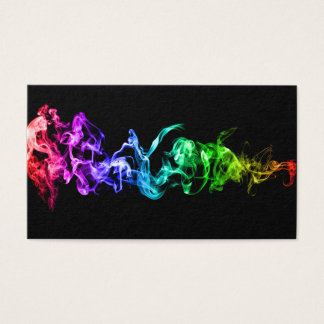 Customizable Bright Colourful Abstract Art Business Card