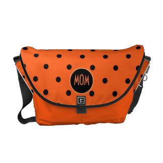 Customizable Brilliant Orange Handbag Courier Bag