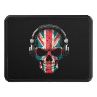 Customizable British Dj Skull with Headphones Trailer Hitch Covers