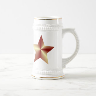 Customizable Bronze Star Beer Stein