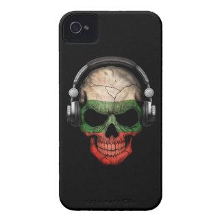 Customizable Bulgarian Dj Skull with Headphones iPhone 4 Case-Mate Cases