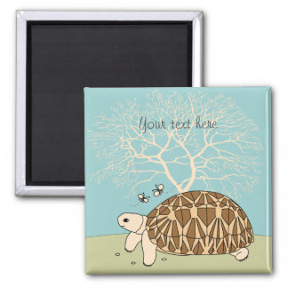 Customizable Burmese Star Tortoise Magnet