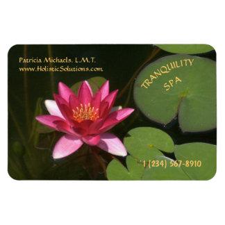 CUSTOMIZABLE BUSINESS CARD MAGNET/LOTUS BLOSSOM RECTANGULAR PHOTO MAGNET