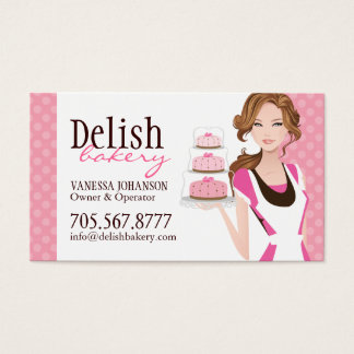 Customizable Cake Bakery Business Card