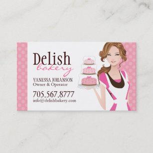 Bakery business cards profile cards zazzle ca customizable cake bakery business card reheart Choice Image