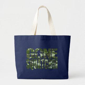 Customizable Camo Gone Squatchin Large Tote Bag