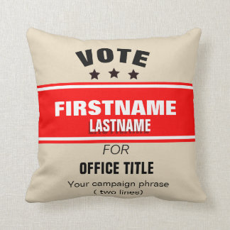 Customizable campaign Throw Pillow