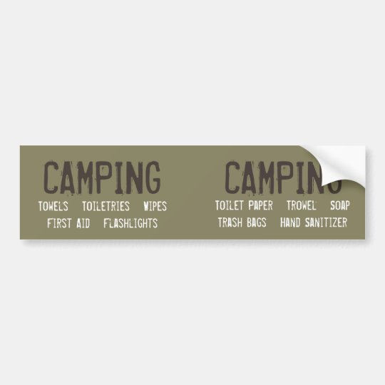 Customizable Camping Organization Labels