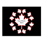 Customizable Canada Maple Leaf Picture Frame Postcards