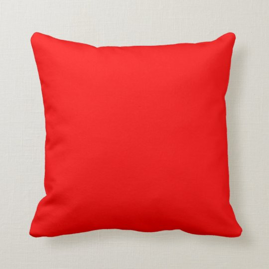 Customizable Candy Apple Red Solid Throw Pillows