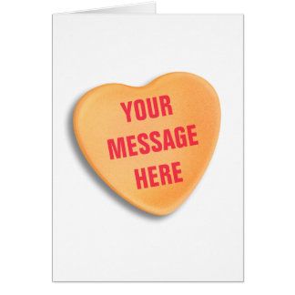 Customizable Candy Heart Card