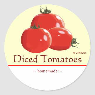 Customizable Canned Tomatoes Label