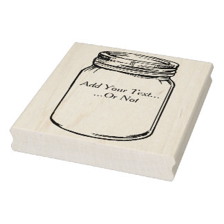 Customizable Canning Jar Rubber Art Stamp
