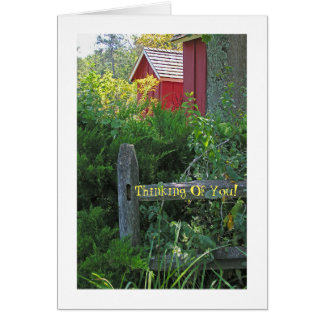 """CUSTOMIZABLE CARD/""""HOW ARE YOU?/RED SHED AND RUS CARD"""