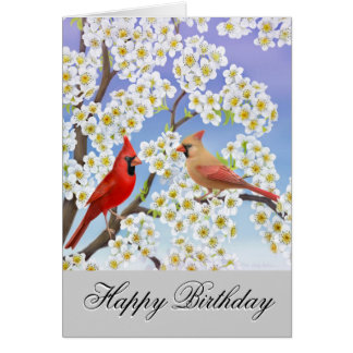 Customizable Cardinals Birthday Card