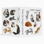 Customizable Cat Lovers Avery Binder