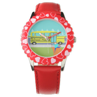 Customizable Catching the School Bus Watch
