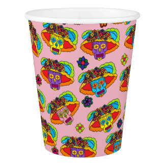 Customizable Catrina Sugar Skulls Paper Cup