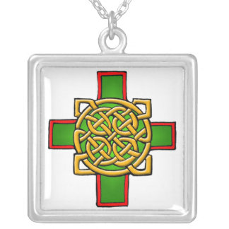 Customizable Celtic Cross Art Necklace