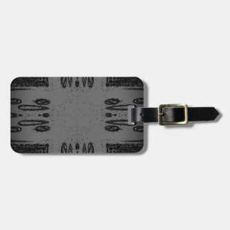Customizable Center Gray Black Gothic Luggage Tag
