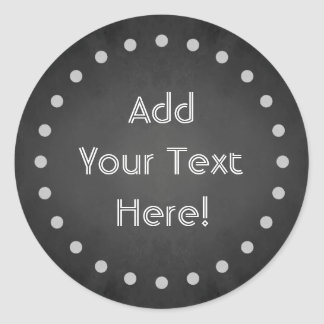 Customizable Chalk Polka Dot Stickers (Round)