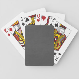 Customizable Chalkboard Background Playing Cards