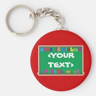 Customizable Chalkboard, <YOURTEXT> Keychain