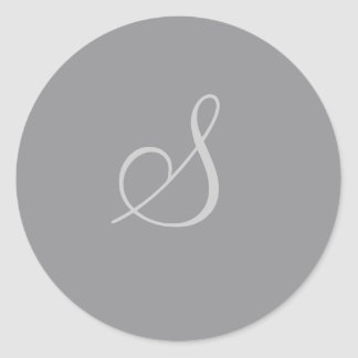 Customizable Charcoal Circle Sticker