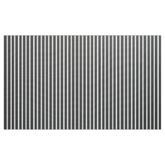 Customizable Charcoal Gray and White Stripe Fabric